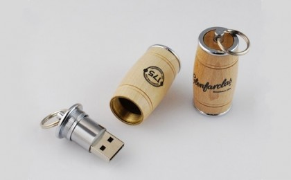 Wood Barrel USB Flash Drive